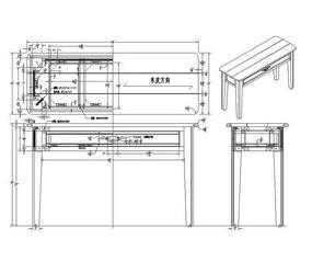 拼接边几图纸CAD素材 dwg