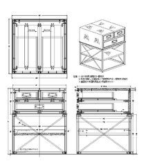 三抽方形几CAD素材