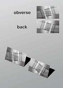 银灰色金属质感名片