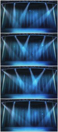 蓝色led灯舞台背景视频素材
