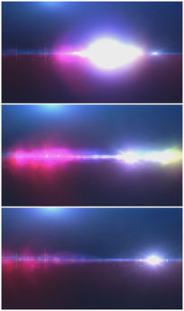 蓝紫色大气镜头光晕背景视频素材