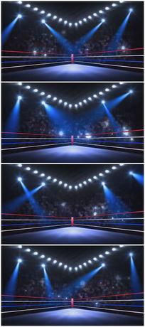拳击竞技舞台背景视频素材