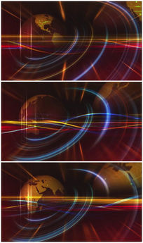 三维科技炫彩地球背景视频素材