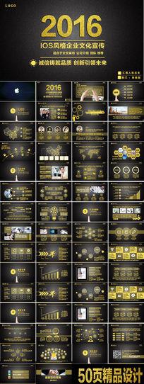 2016土豪金IOS风格企业PPT模板