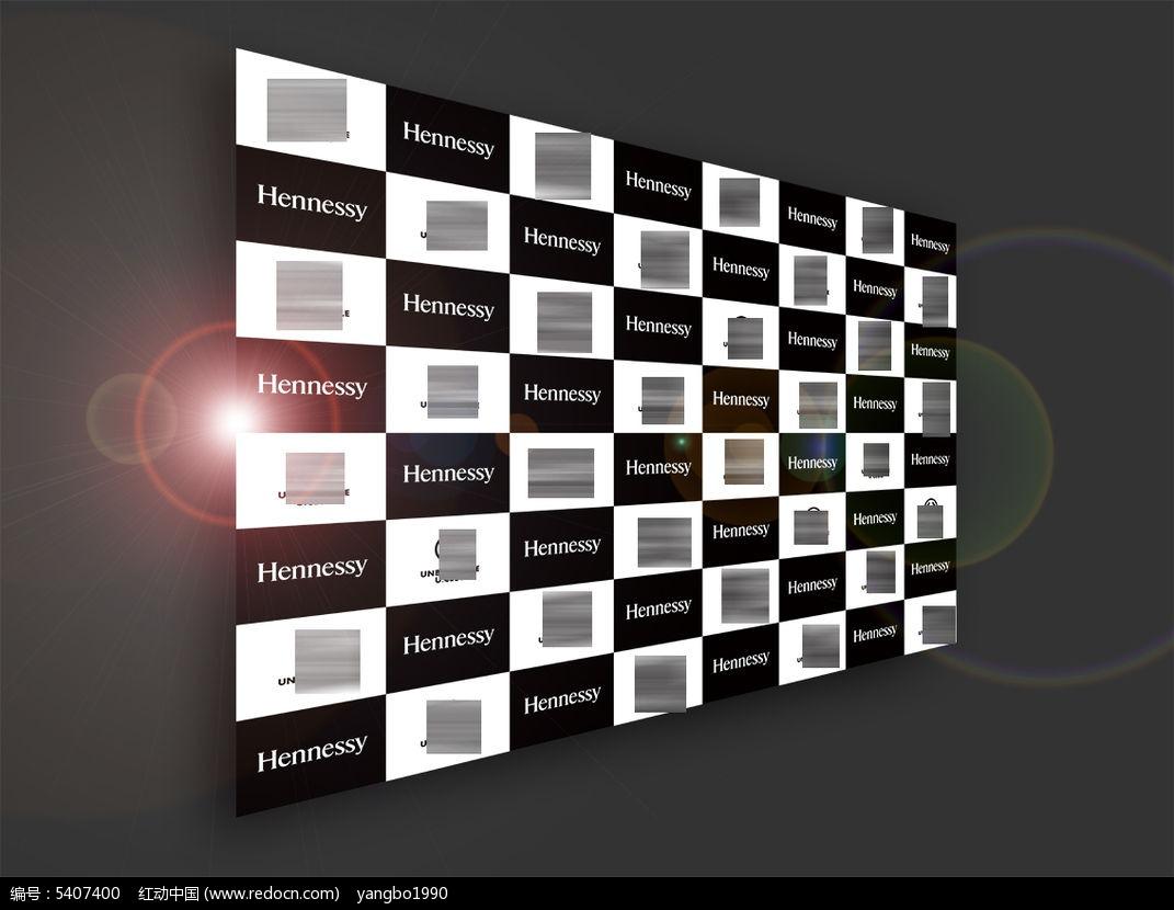 经典黑白格合影墙签名墙ai素材下载_活动 会议背景板图片