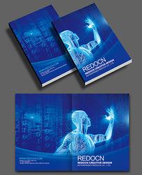 蓝色科技机器人封面设计