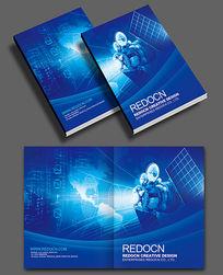 蓝色科技卫星画册封面