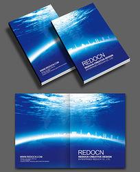 蓝色商业画册封面设计
