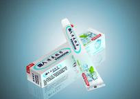 清爽牙膏包装盒设计