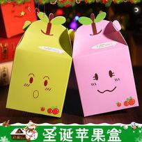 清新圣诞节苹果盒主图 PSD