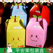 圣诞节平安果苹果包装盒主图 PSD