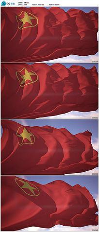 中国共青团旗飘扬背景视频素材