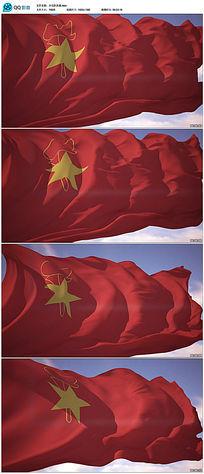 中国少年先锋队队旗飘扬视频素材