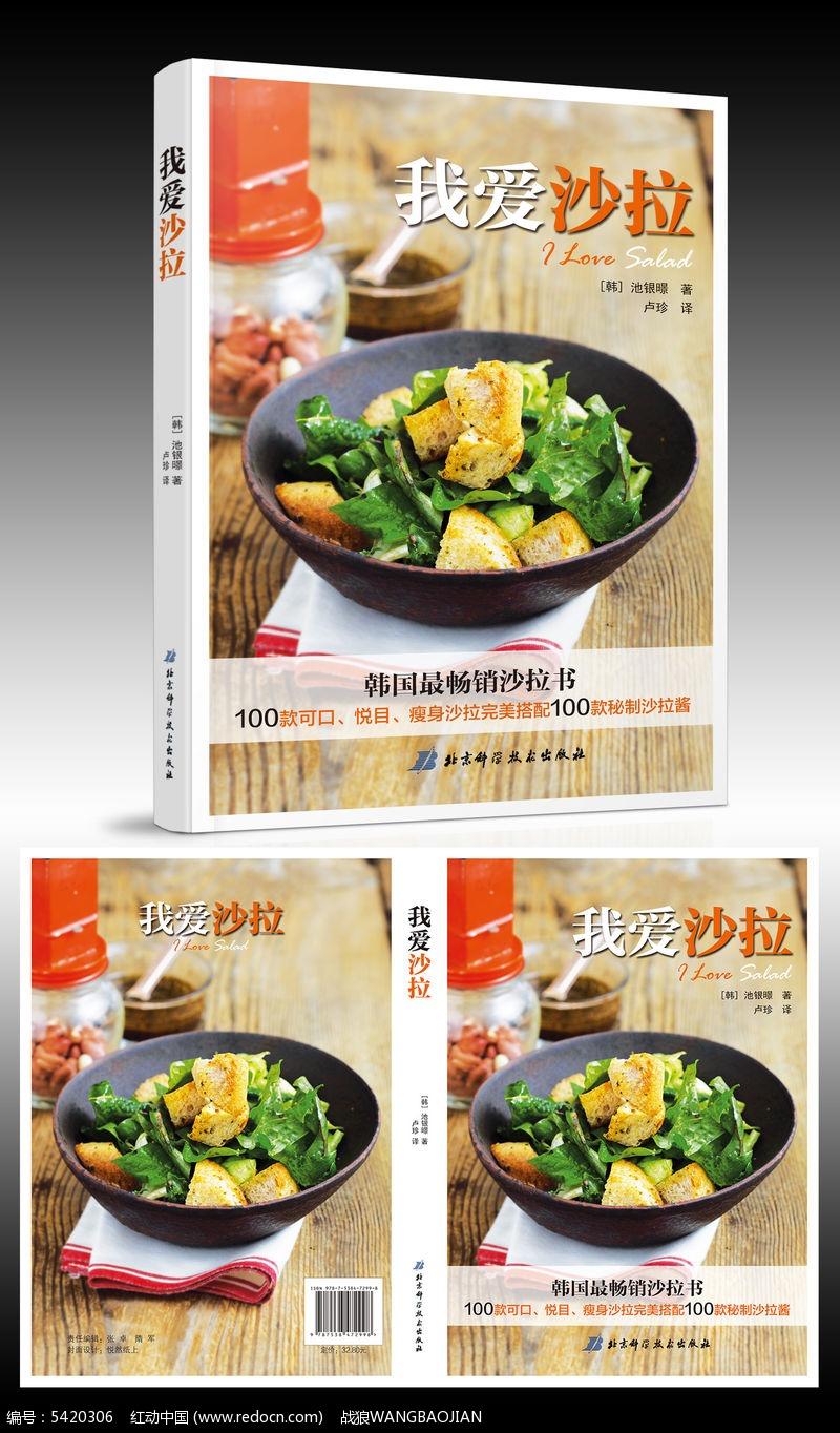 美食沙拉书籍封面设计图片
