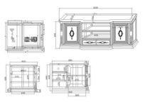 带面板轨道电视柜CAD素材 dwg
