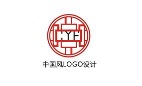 中国风窗花简约LOGO设计 CDR