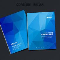 蓝色格子封面设计