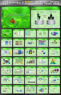 绿色蝴蝶背景PPT设计模板