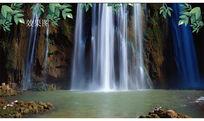 瀑布流水背景视频素材