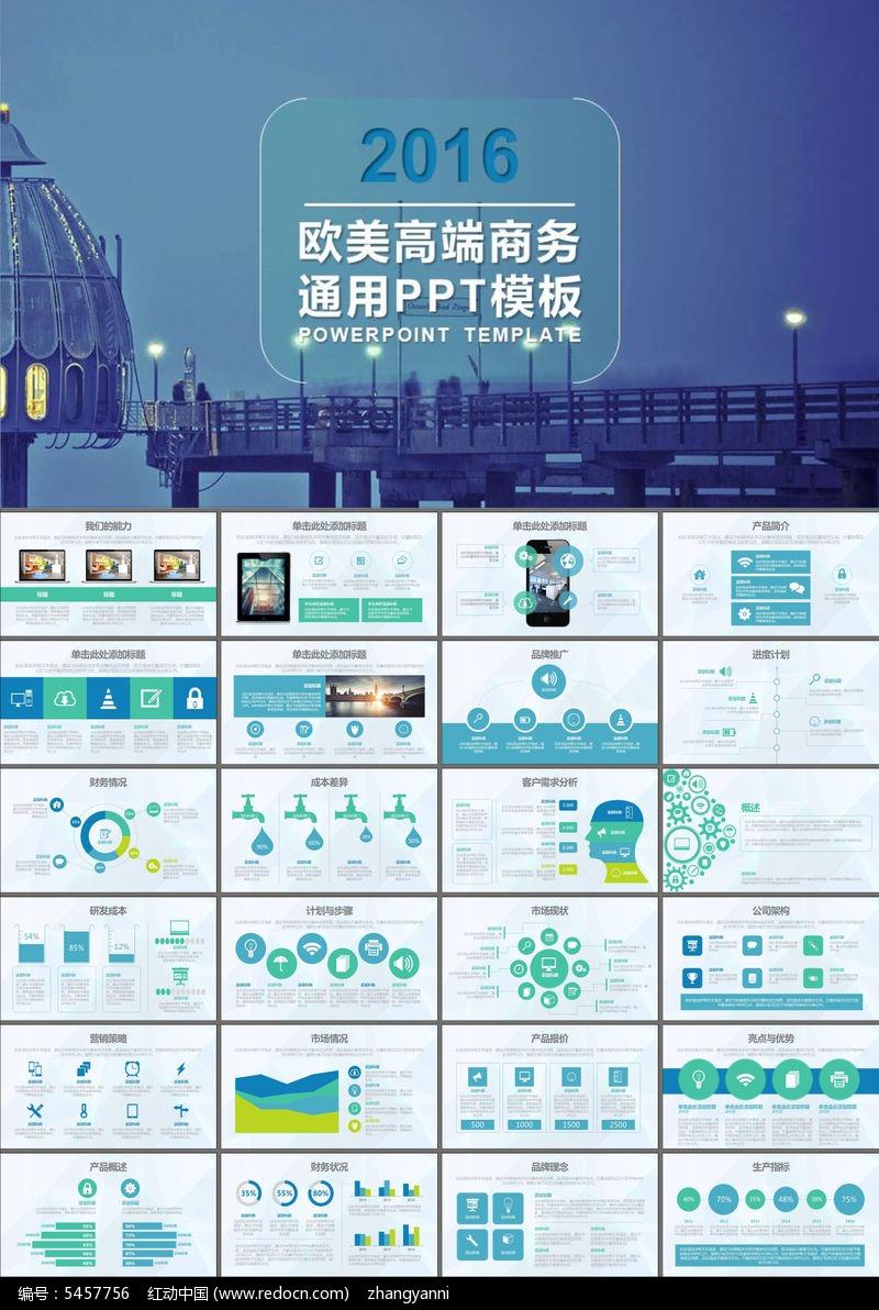 商业策划书产品介绍工作总结ppt模板