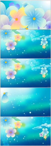唯美淡蓝色花朵花藤LED视频