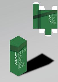 清幽内敛绿色包装盒模板