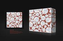 赭白色化妆品行业包装盒