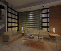 个性时尚室内客厅3D模型