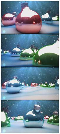 卡通彩色装饰球背景视频素材