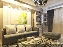 客厅沙发背景墙装修3D模型