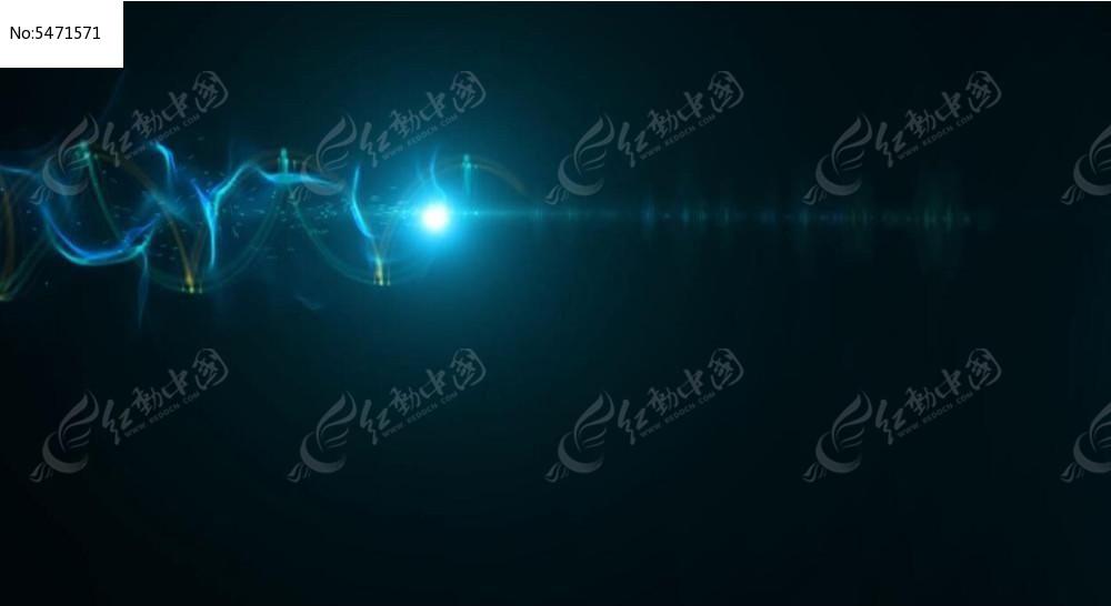 视频_蓝色流动光效视频素材