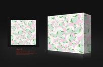 浅绿色包装盒设计模板