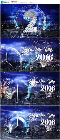 2016猴年新年燃放烟花祝福片头视频