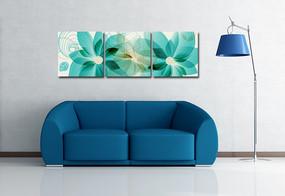抽象花卉无框画