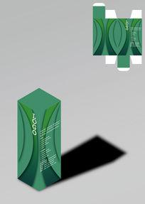 典雅设计绿色包装盒