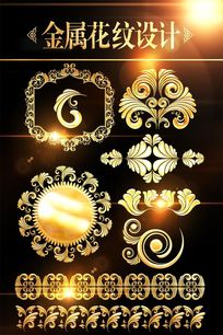 金属欧式花纹边框底纹素材图片