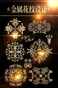 金属圆形欧式花纹素材 PSD