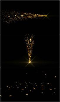 三款星光粒子透明通道视频素材 mov