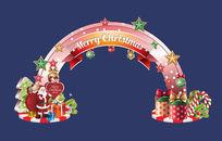 圣诞门头设计模板下载