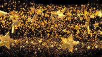 透明通道炫酷金色粒子转场视频素材