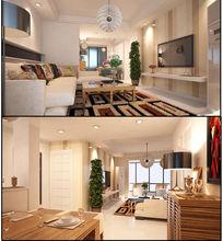 家装室内效果图模型带材质