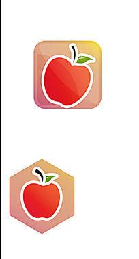 方形六角形图标苹果icon
