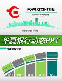 华夏银行金融理财投资基金动态PPT模板