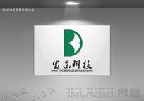 BD字母标志设计