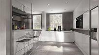 厨房餐厅3D设计稿