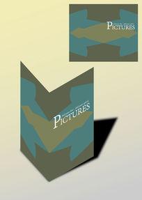 对称简洁书籍画册封面