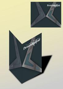 对称图案书籍画册封面