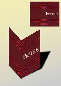 个性大气线条设计书籍画册封面