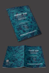国外企业抽象封面设计