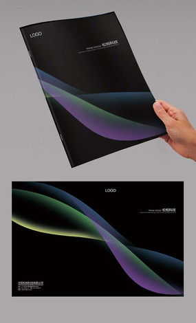 黑色弧线科技封面